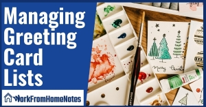 Managing Greeting Card Lists