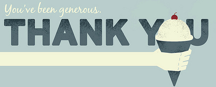 You've Been Generous. Thank You.